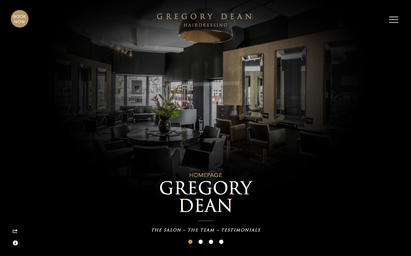 Gregory Dean Hair Salon Homepage