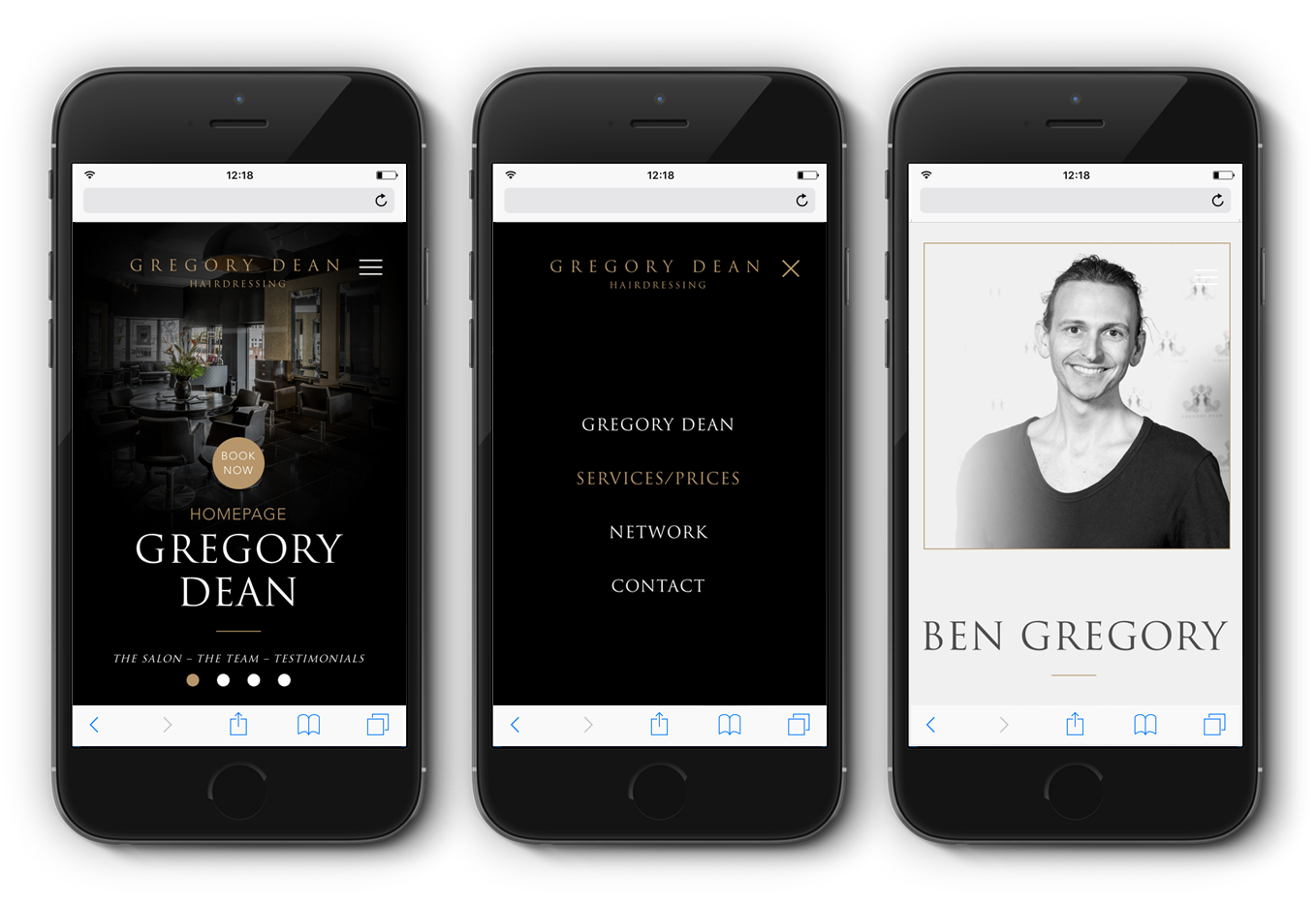 Gregory Dean mobile design visual