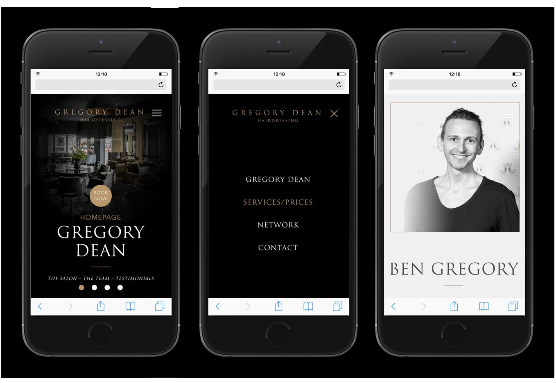 Gregory Dean mobile design visual