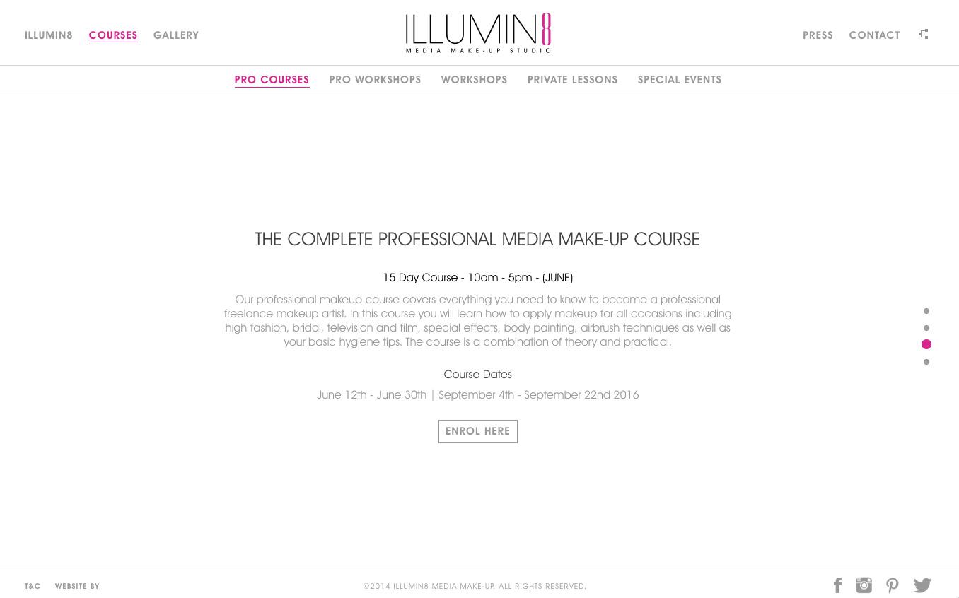 Illumin8 Makeup Studio Website