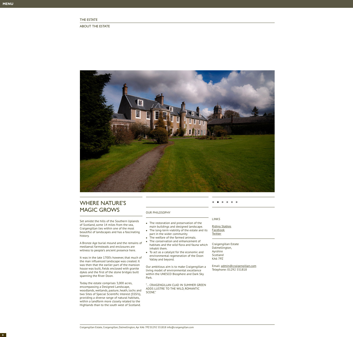 Craigengillan Estate Website
