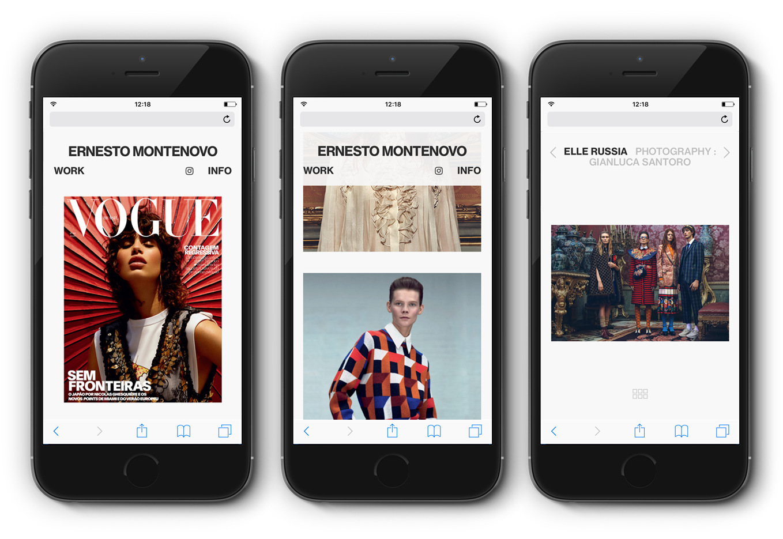 Ernesto Montenovo Website Design Mobile