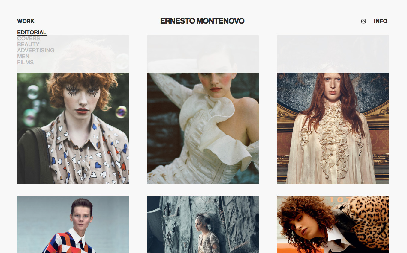 Ernesto Montenovo Website Design